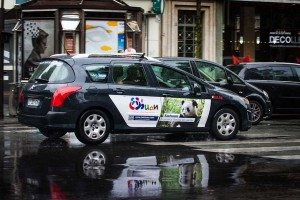 Advertising campaign with 450 taxis