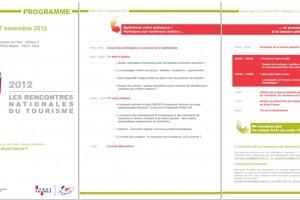 Programme for Rencontres Nationales du Tourisme 2012 event