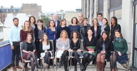 Notre équipe sur la terrasse… pour la photo de classe