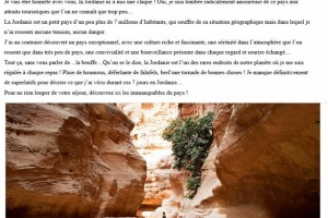 Extrait de l'article de WORLD ELSE suite au blog trip