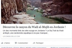 Facebook page in French