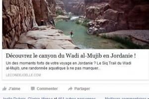 Page Facebook en français de la Jordanie
