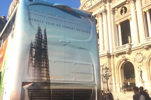 Bus branded with The View from the Shard brand for the bloggers event in november 2015