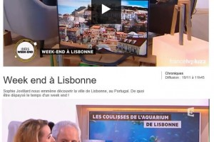 Lisbon on La Quotidienne TV show in 2015 (France 5 channel)