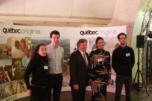 Michel Robitaille et l'équipe du Bureau Destination Québec à Paris