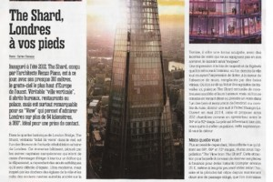 The View from the Shard in A Nous Paris magazine in April 2015