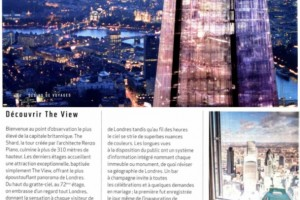 The View from the Shard in Desirs de voyages magazine in May 2015