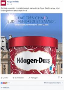 Häagen-Dazs à Saint-Lazare