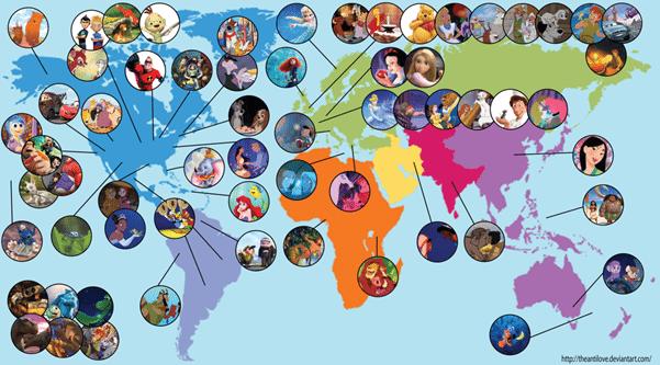 Carte Destinations Disney