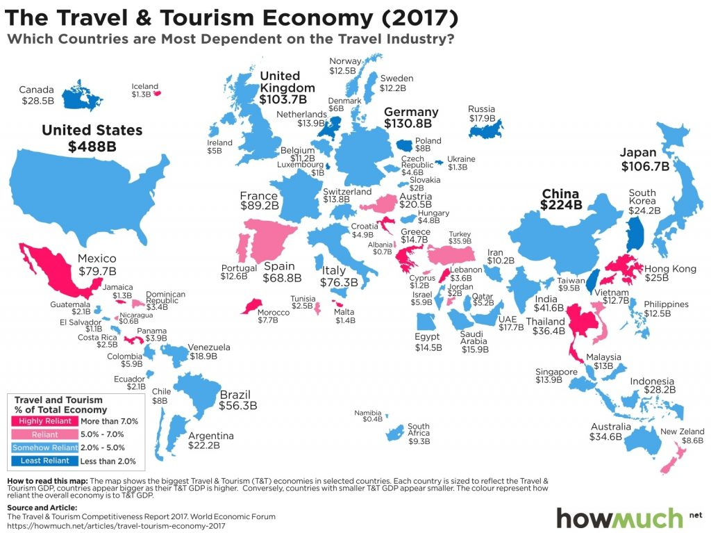 Carte - Travel & Tourism Economy 2017